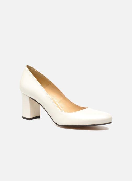 High heels Georgia Rose Santoo White detailed view/ Pair view