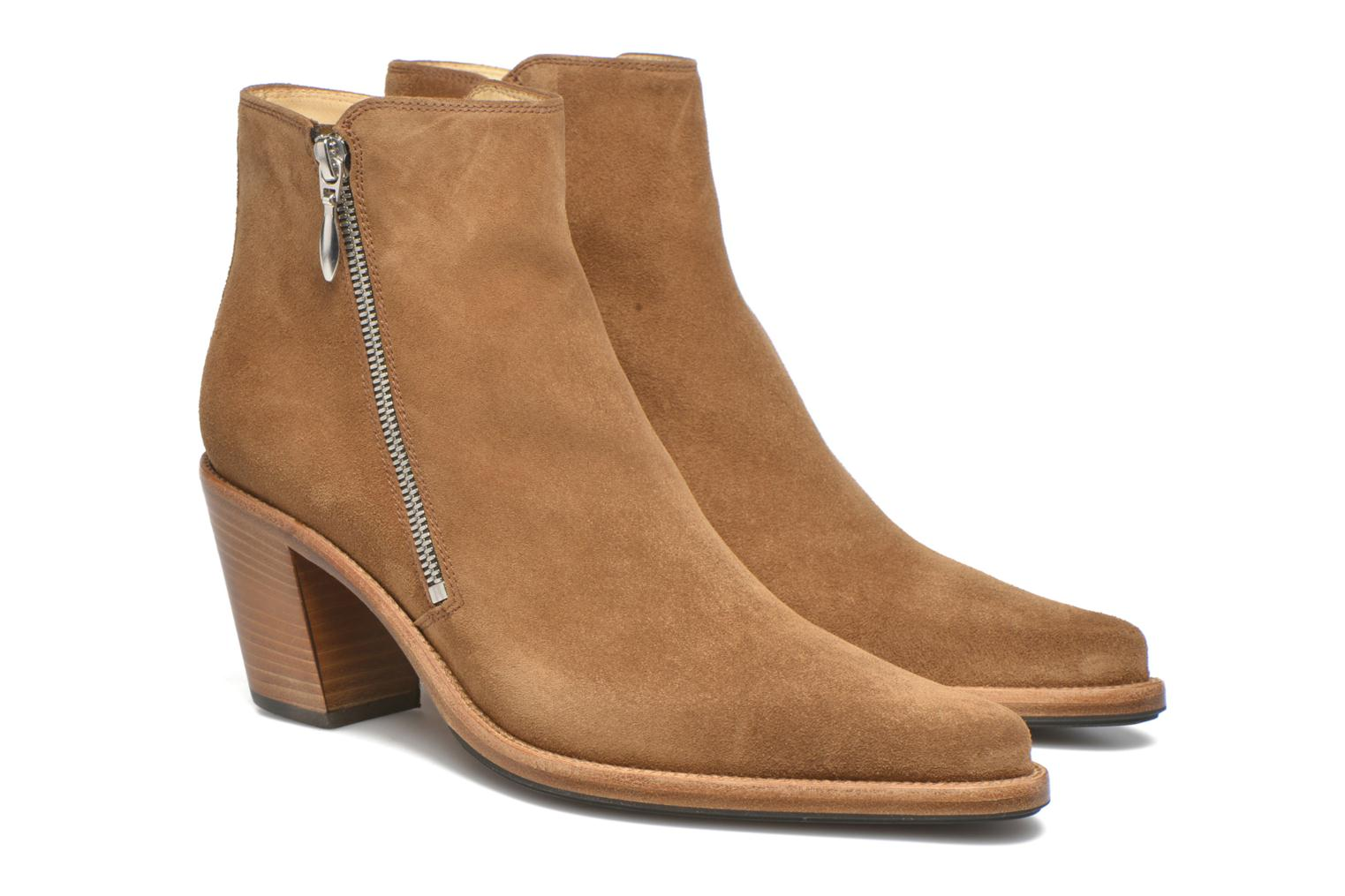 Ankle boots Free Lance Okao 7 Boot 2 Zip Brown 3/4 view