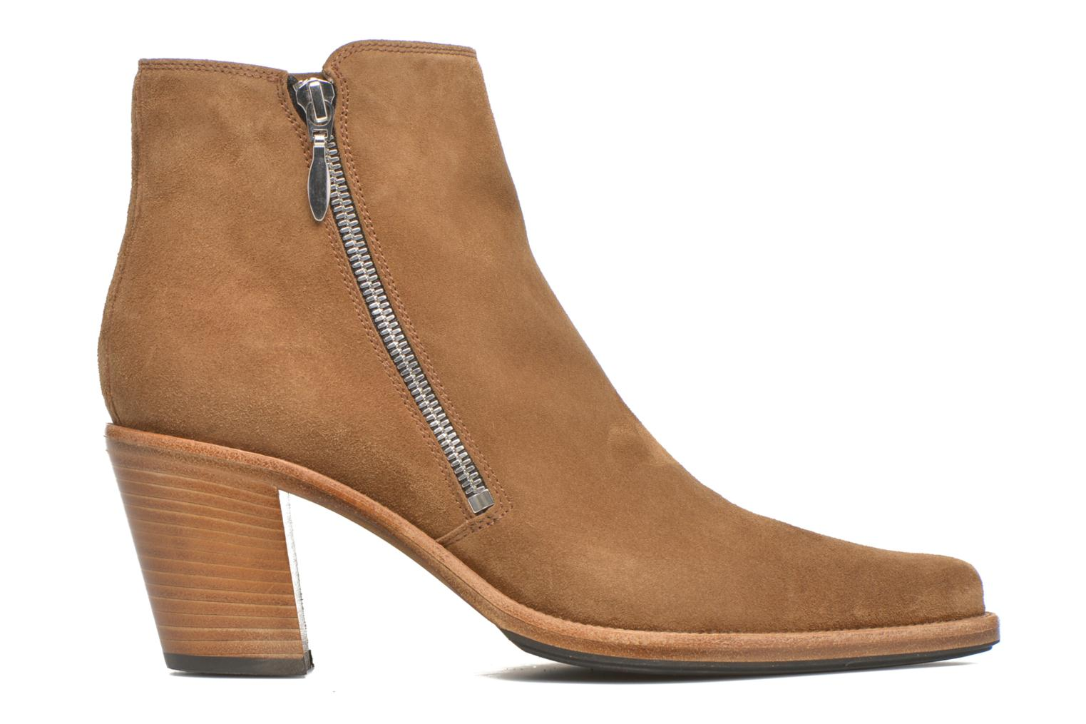Ankle boots Free Lance Okao 7 Boot 2 Zip Brown back view