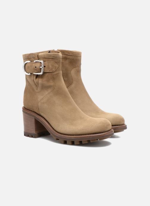 Bottines et boots Free Lance Justy 7 Small Gero Buckle Beige vue 3/4