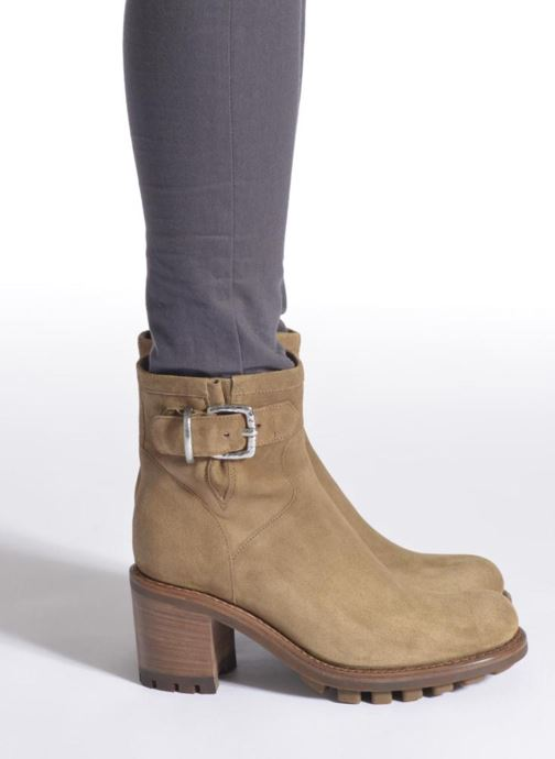 Ankle boots Free Lance Justy 7 Small Gero Buckle Green view from underneath / model view