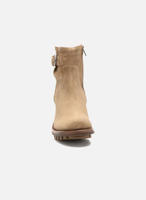 Bottines et boots Free Lance Justy 7 Small Gero Buckle Beige vue portées chaussures