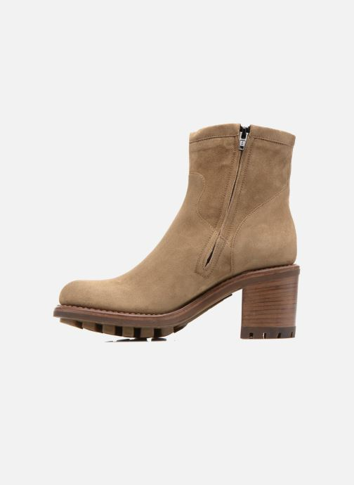 Bottines et boots Free Lance Justy 7 Small Gero Buckle Beige vue face