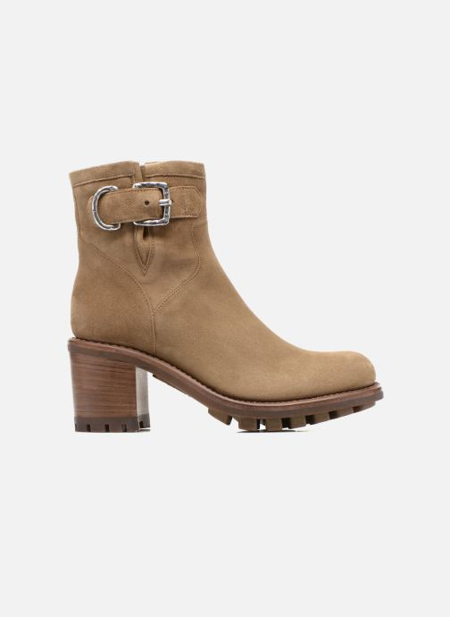 Botines  Free Lance Justy 7 Small Gero Buckle Beige vistra trasera