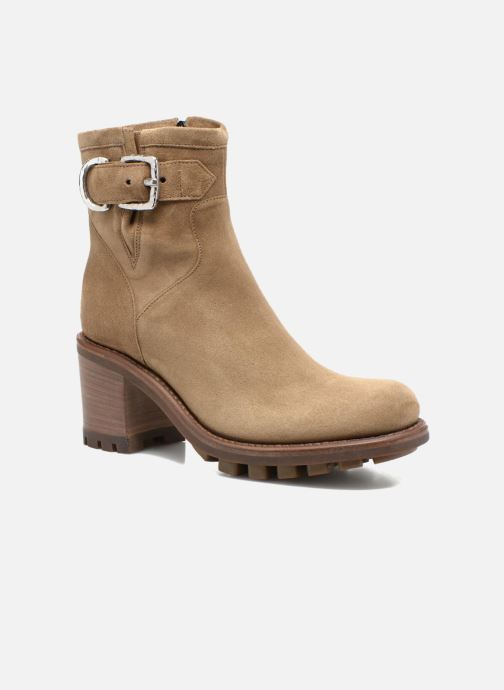 Bottines et boots Free Lance Justy 7 Small Gero Buckle Beige vue détail/paire