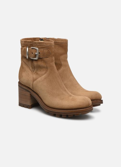 Bottines et boots Free Lance Justy 7 Small Gero Buckle Marron vue 3/4