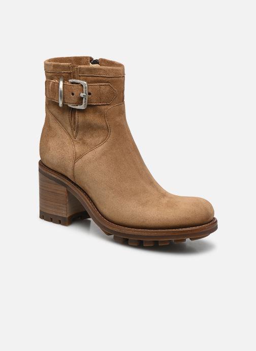 Bottines et boots Free Lance Justy 7 Small Gero Buckle Marron vue détail/paire
