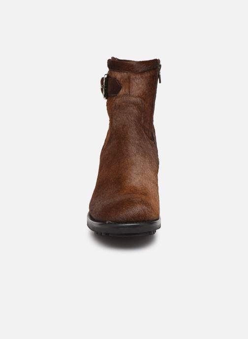 Stiefeletten & Boots Free Lance Justy 7 Small Gero Buckle braun schuhe getragen