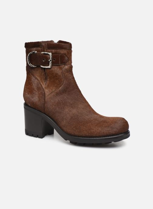 Bottines et boots Free Lance Justy 7 Small Gero Buckle Marron vue détail/paire