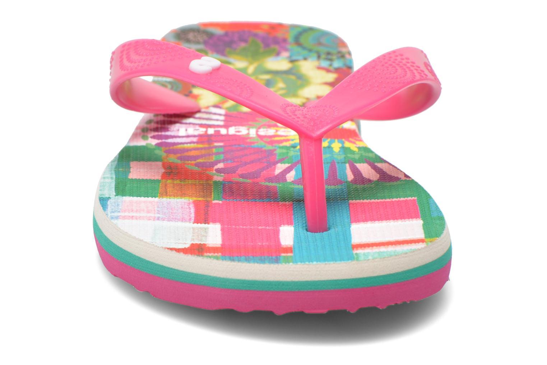 Tongs Desigual SHOES_FLIP FLOP 11 Rose vue portées chaussures