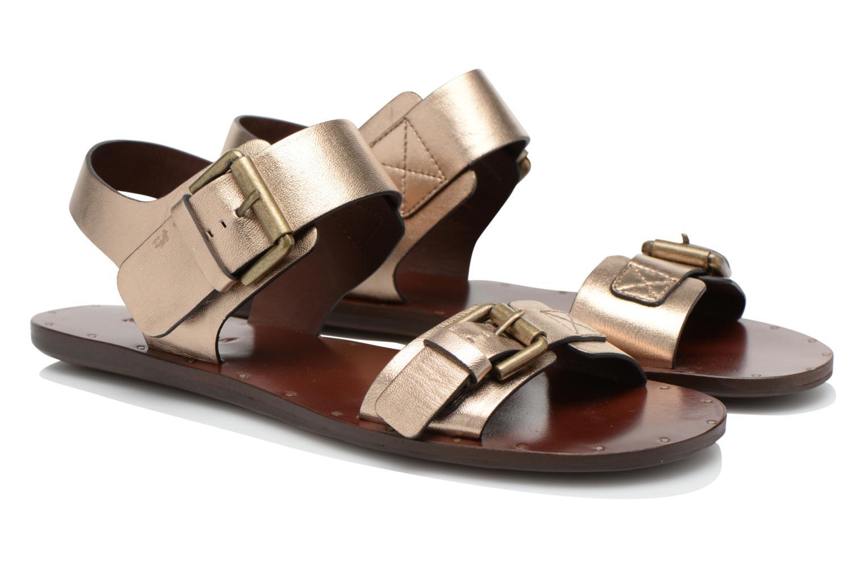 Sandaler See by Chloé Hiho Guld og bronze 3/4 billede