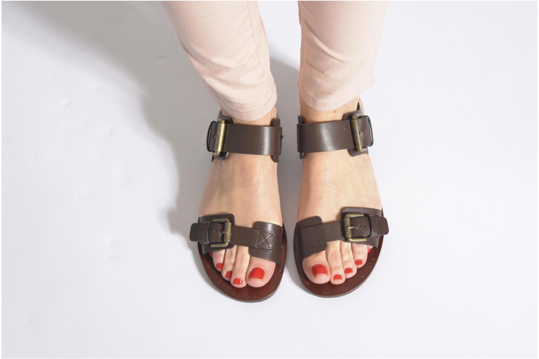Sandales et nu-pieds See by Chloé Hiho Or et bronze vue bas / vue portée sac