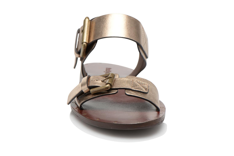 Sandales et nu-pieds See by Chloé Hiho Or et bronze vue portées chaussures
