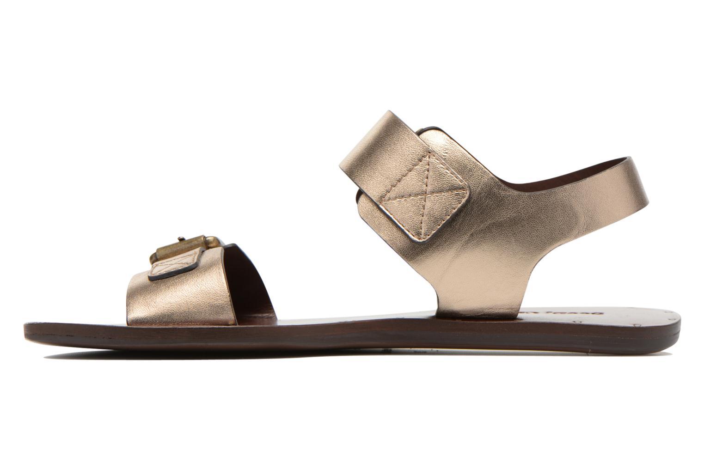 Sandales et nu-pieds See by Chloé Hiho Or et bronze vue face