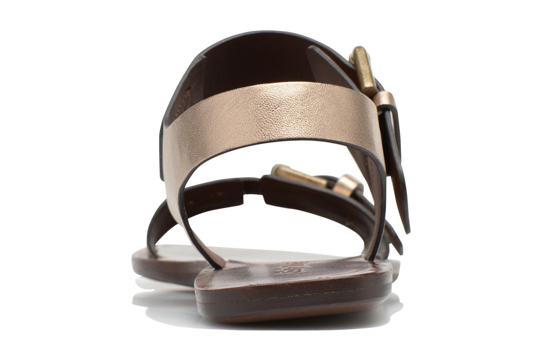 Sandaler See by Chloé Hiho Guld og bronze Se fra højre