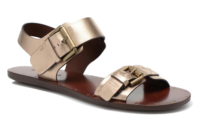 Sandaler See by Chloé Hiho Guld og bronze detaljeret billede af skoene