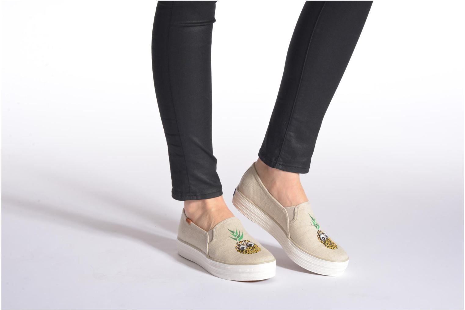Trainers Keds Triple decker Beige view from underneath / model view