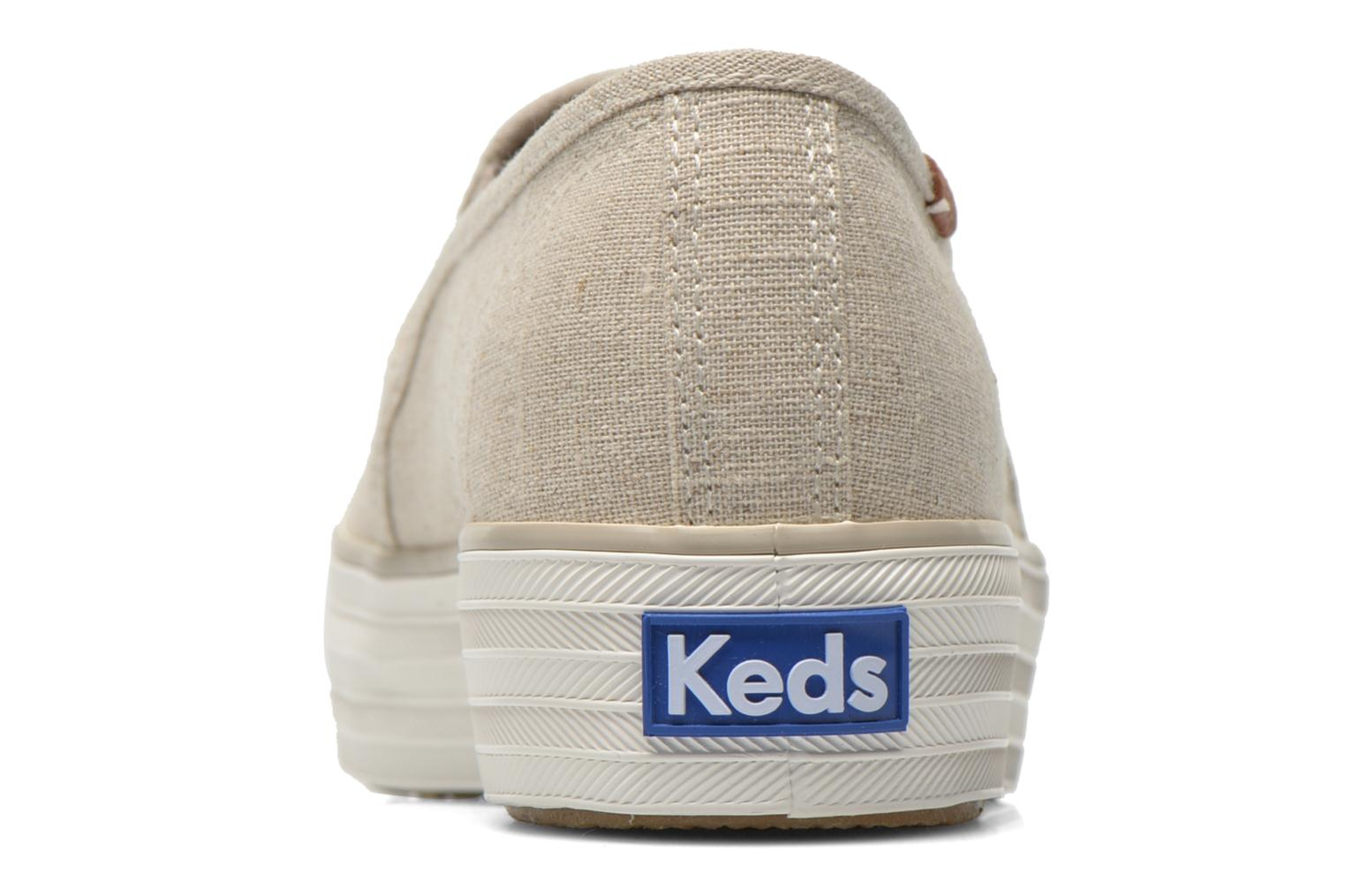 Trainers Keds Triple decker Beige view from the right