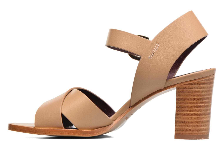 Sandales et nu-pieds Avril Gau Coquille Beige vue face