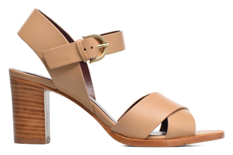 Sandales et nu-pieds Avril Gau Coquille Beige vue derrière