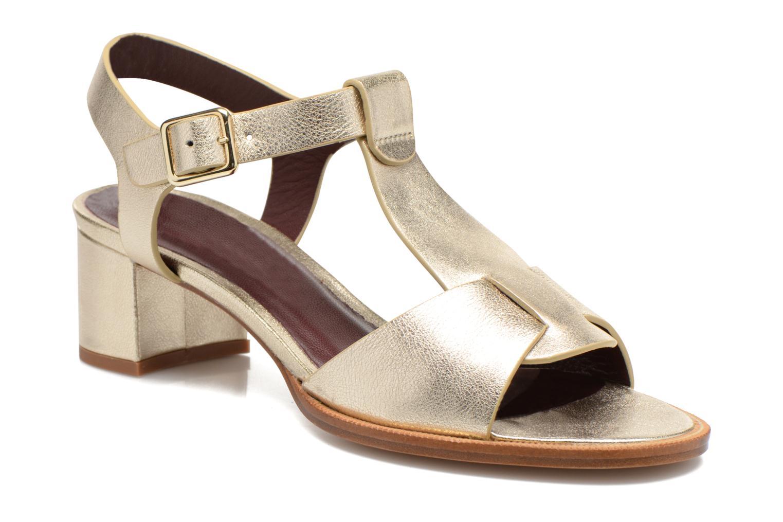 Sandales et nu-pieds Avril Gau Paty Or et bronze vue détail/paire