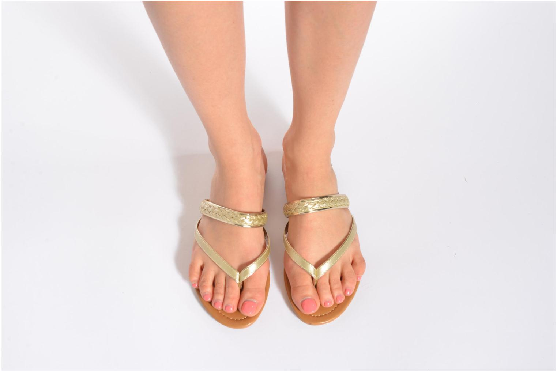 Tongs I Love Shoes Therty Or et bronze vue bas / vue portée sac
