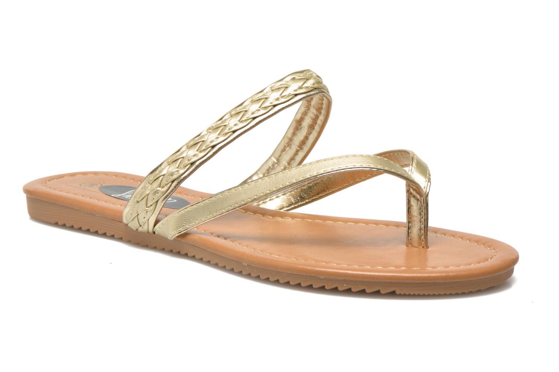 Tongs I Love Shoes Therty Or et bronze vue détail/paire