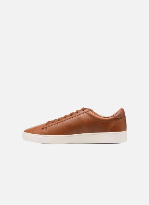 Baskets Fred Perry Spencer Waxed leather Marron vue face