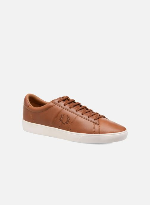 Baskets Fred Perry Spencer Waxed leather Marron vue détail/paire