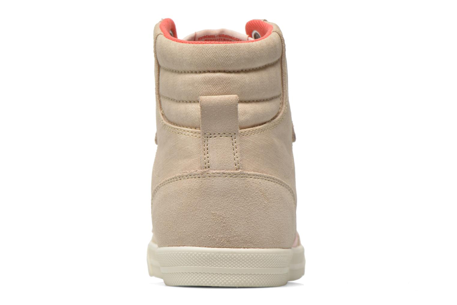 Baskets Hummel Ten Star Smooth Hi Beige vue droite