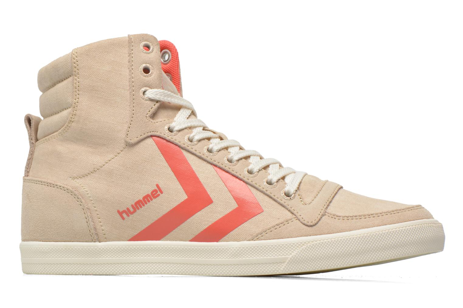 Baskets Hummel Ten Star Smooth Hi Beige vue derrière