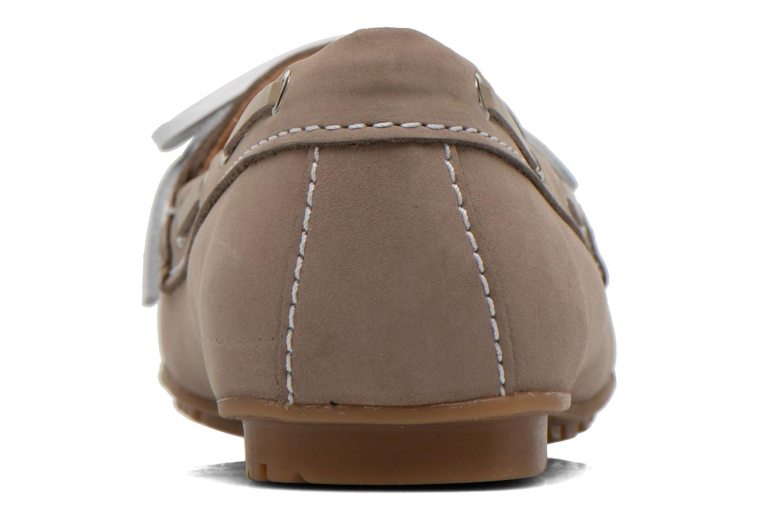 Mocassins Sebago Meriden Two eye Beige vue droite