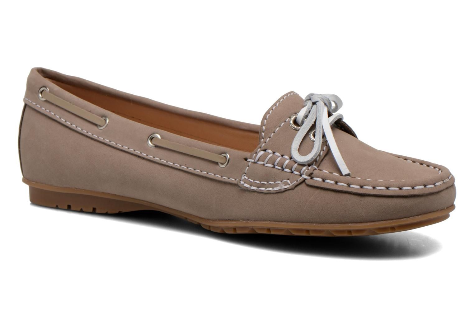 Mocassins Sebago Meriden Two eye Beige vue détail/paire