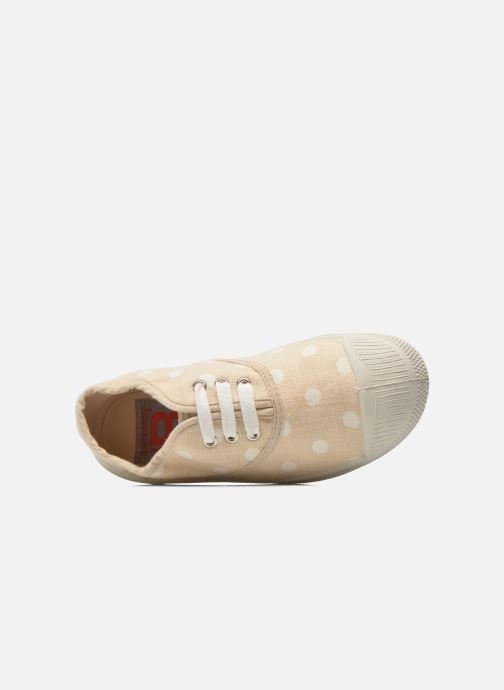Baskets Bensimon Tennis Lacets Pastel Pastilles E Beige vue gauche