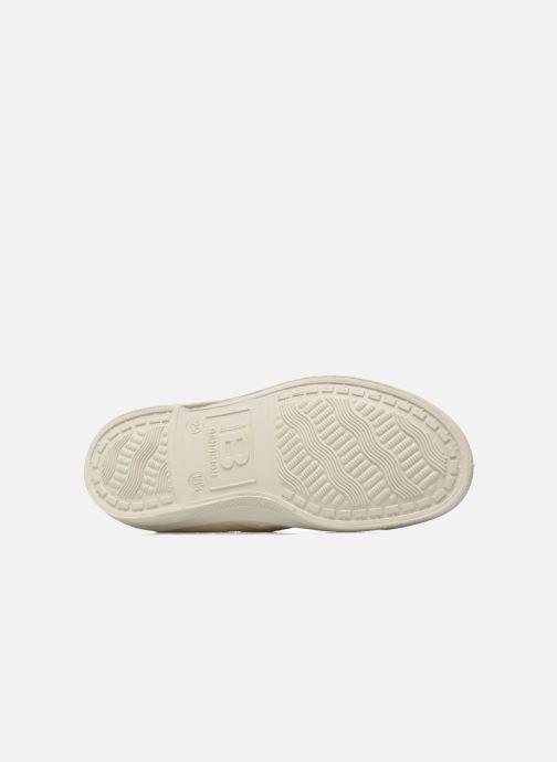 Baskets Bensimon Tennis Lacets Pastel Pastilles E Beige vue haut