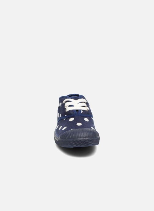 Sneakers Bensimon Tennis Lacets Pastel Pastilles E Azzurro modello indossato