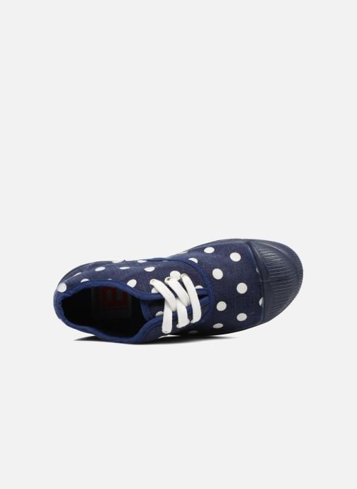 Sneakers Bensimon Tennis Lacets Pastel Pastilles E Azzurro immagine sinistra