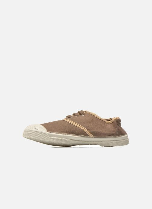 Trainers Bensimon Tennis Lacets Shinypiping E Brown front view