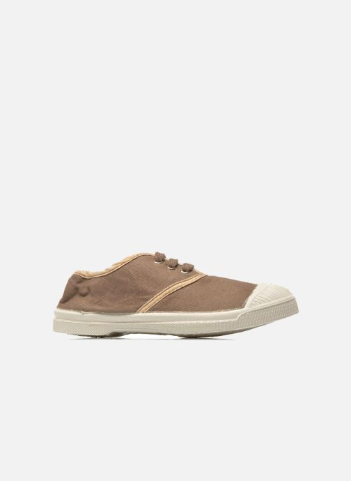 Trainers Bensimon Tennis Lacets Shinypiping E Brown back view