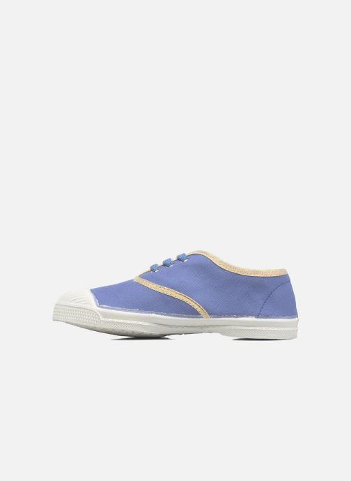 Sneakers Bensimon Tennis Lacets Shinypiping E Azzurro immagine frontale
