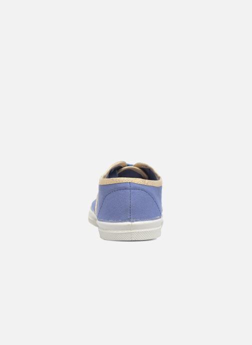 Sneakers Bensimon Tennis Lacets Shinypiping E Azzurro immagine destra