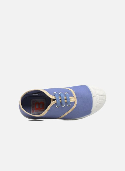 Sneakers Bensimon Tennis Lacets Shinypiping E Azzurro immagine sinistra