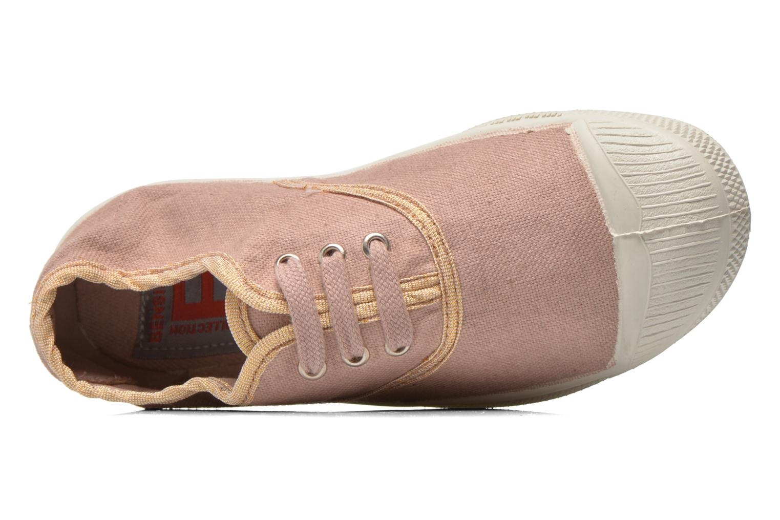 Sneaker Bensimon Tennis Lacets Shinypiping E rosa ansicht von links