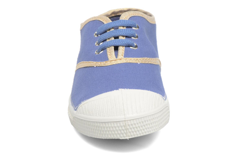 Baskets Bensimon Tennis Lacets Shinypiping E Bleu vue portées chaussures