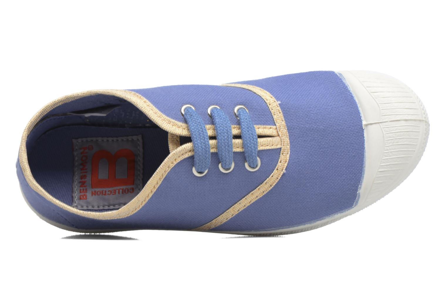 Sneaker Bensimon Tennis Lacets Shinypiping E blau ansicht von links