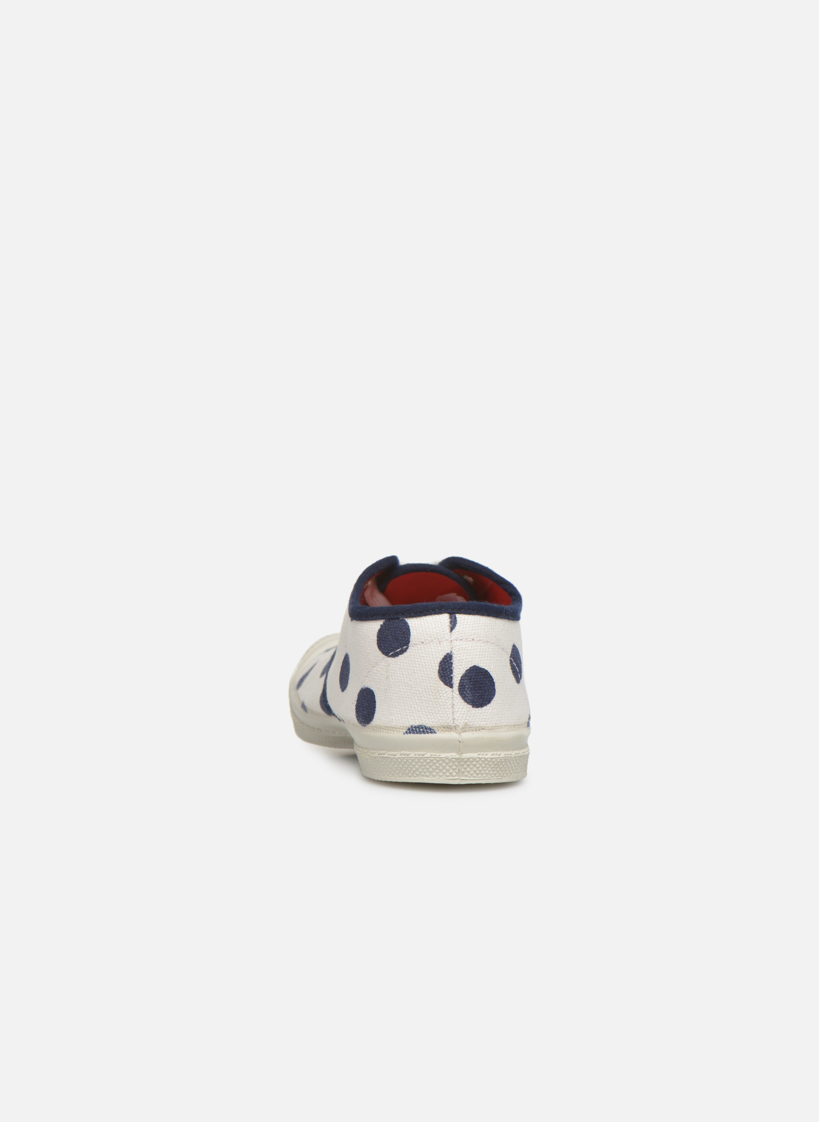 Trainers Bensimon Tennis Pois E White view from the right