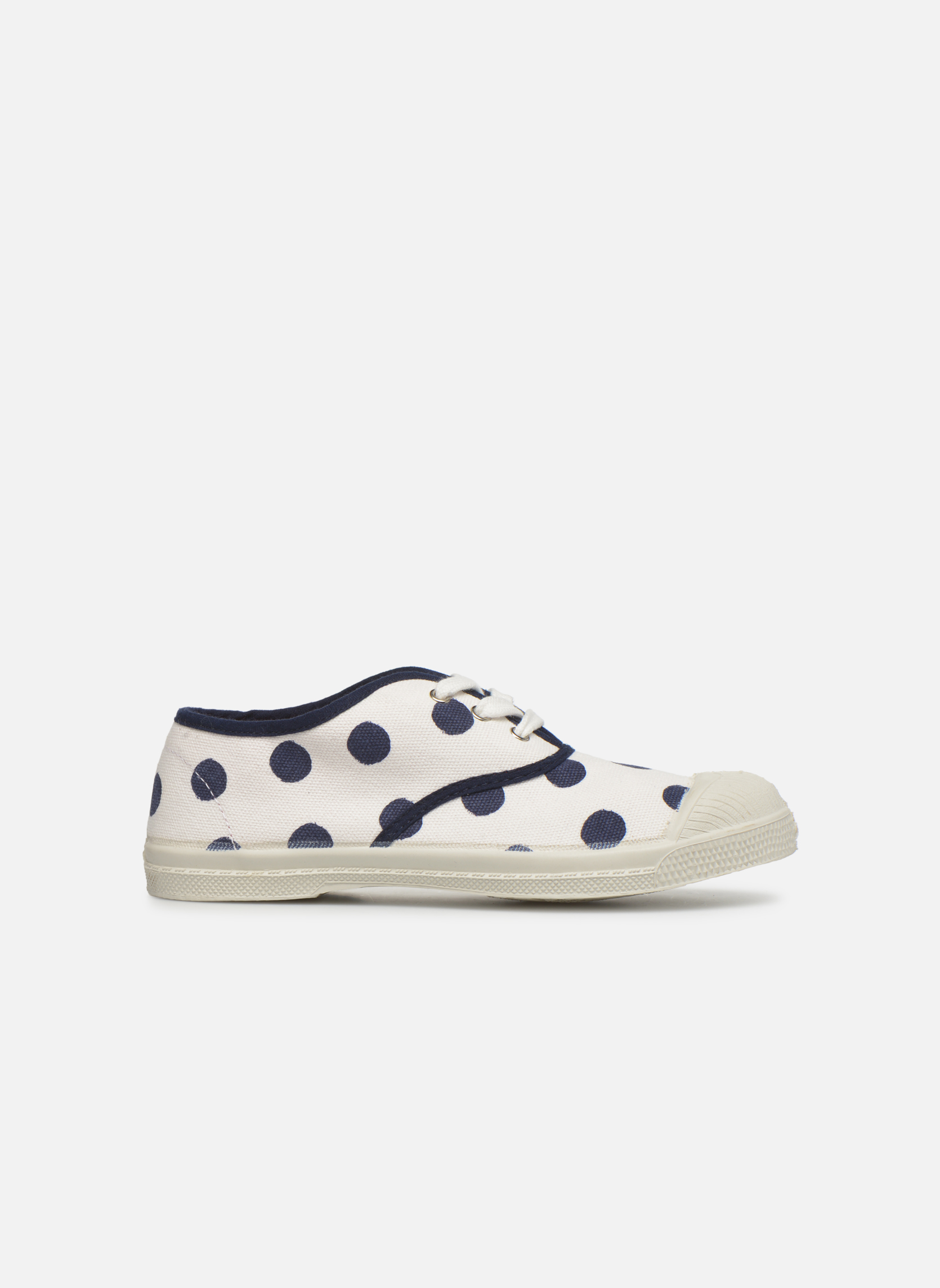 Trainers Bensimon Tennis Pois E White back view