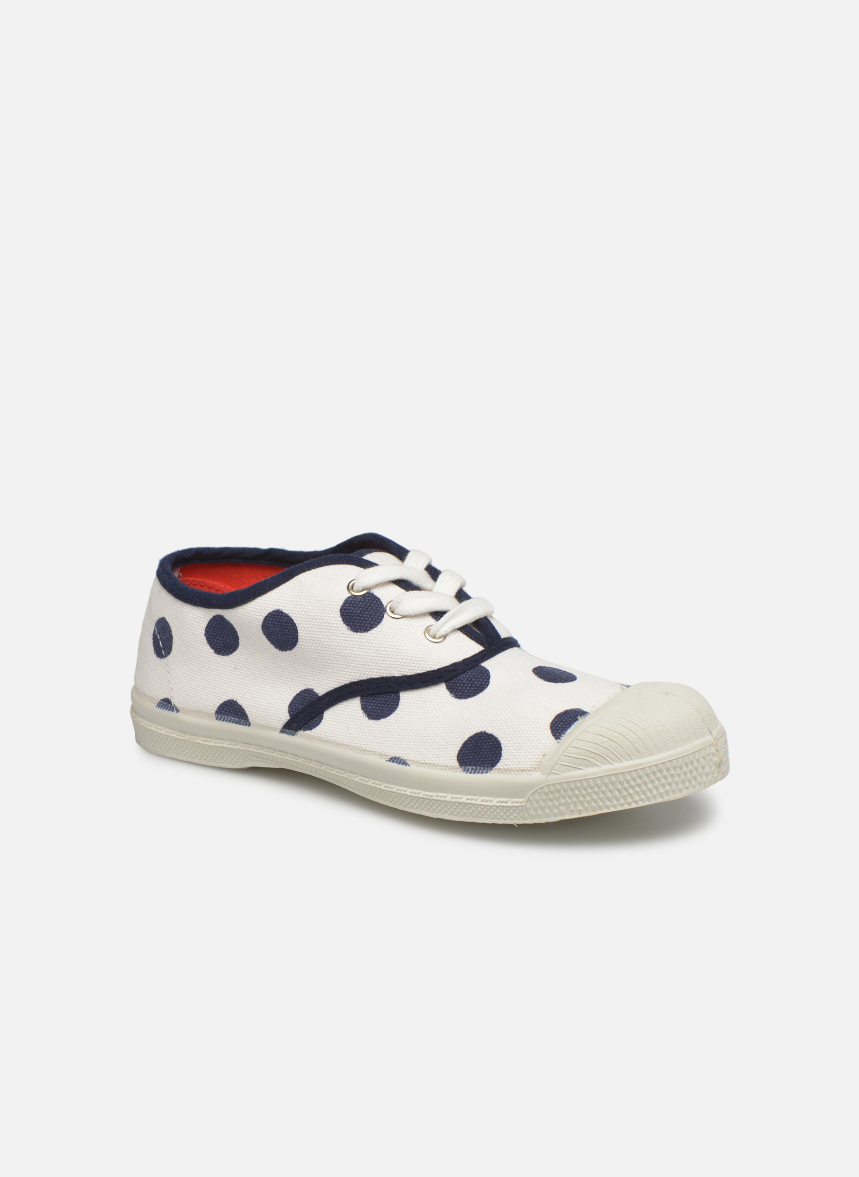 Trainers Bensimon Tennis Pois E White detailed view/ Pair view