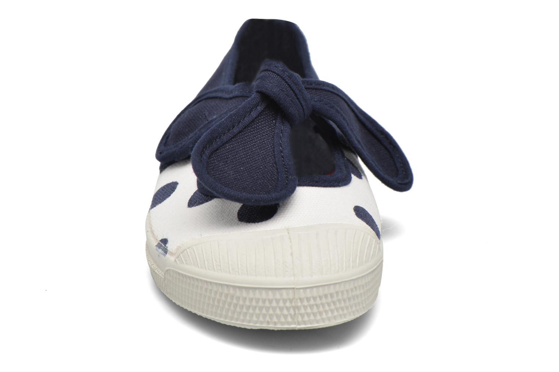 Ballerines Bensimon Ballerine Flo Pois E Bleu vue portées chaussures