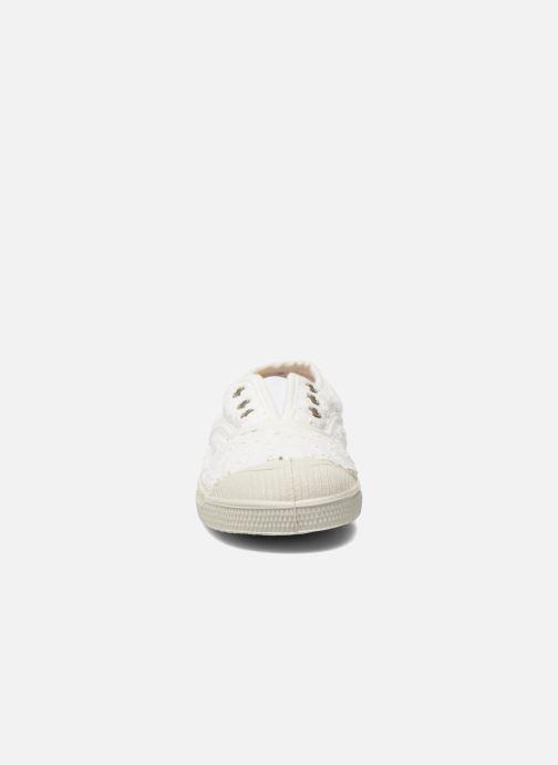 Sneakers Bensimon Tennis Elly Broderie Anglaise E Bianco modello indossato